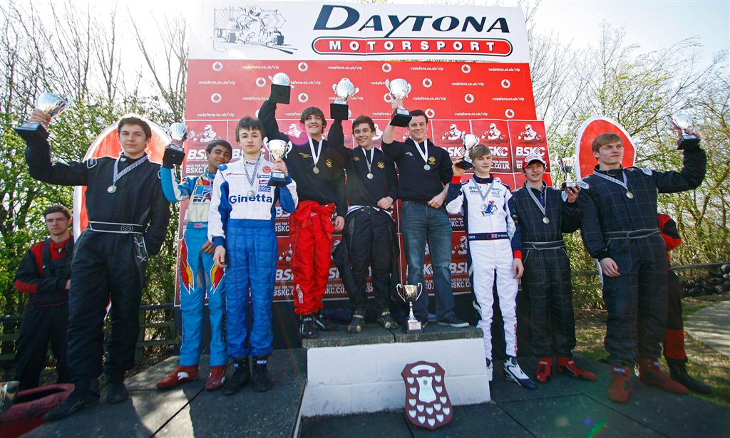 The top 3 teams on the podium from the BSKC 2012